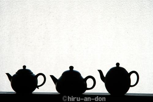 手持ちの茶壺