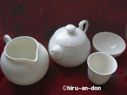 茶香好友の白磁茶器セット