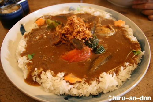 北沢カレー食堂 茄子おやじ 茄子おやじスペシャル大盛り1,208円